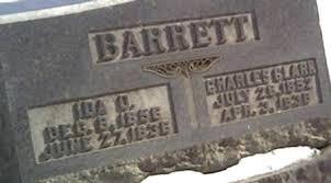 BARRETT, IDA - Cerro Gordo County, Iowa | IDA BARRETT - Iowa Gravestone  Photos