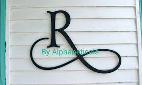 large decorative wooden letters oversized