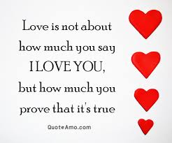 Love Is Quotes Awesome Love Is How Much You Prove That You Love Your Partner Quote Amo