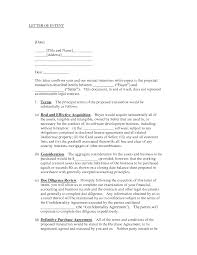 047 Business Letter Sample Of Intent Formidable For Business