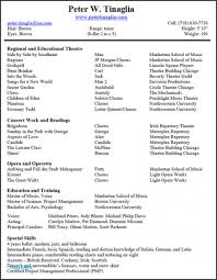 Musical Theatre Resume Examples 60 Luxury Sample Music Resume For