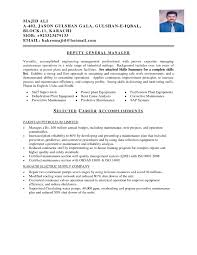 Electrical Maintenance Engineer Resume Samples Resume For Study