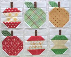 Fall and Halloween Quilt Inspiration - Diary of a Quilter - a ... & Lori Holt Apple blocks Adamdwight.com