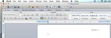 How To Set Up Mla Format On Microsoft Word Mla Format Microsoft Word 2011 Mac Os X Mla Format