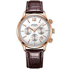 rotary watches automatic mechanical quartz h samuel rotary men s white multi dial brown leather strap watch product number 4606957