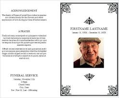 Memorial Pamphlet Template Funeral Pamphlet Single Fold Funeral Memorial Program Template For