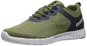 reebok mens running shoes. reebok men\u0027s zquick lite running shoe, canopy green/poplar green/collegiate navy/ mens shoes e