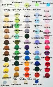 Thread Color Chart The Polka Dot Store