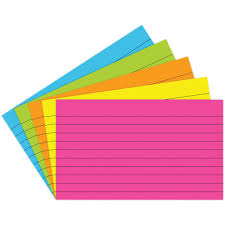 3x5 Cards Index Cards 3x5 Lined 75 Ct Brite Assorted