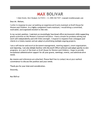 Grants Administrati As Cover Letter Samples For Administrative Jobs