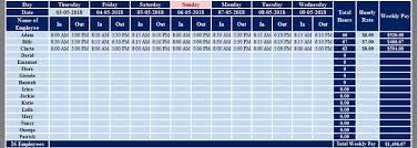 Weekly Time Sheets Multiple Employees Download Multiple Employees Weekly Timesheet Excel Template
