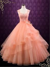 peach wedding dress. Peach Colored Ball Gown Wedding Dress Persi ieie