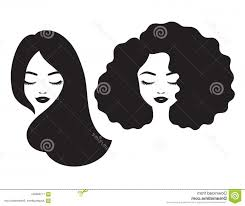 Beautiful Woman Face Hair Silhouette Vector Illustration Black