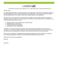 Gallery Of Police Officer Covering Letter Examples Emergency