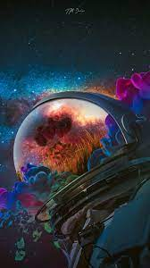 Astronaut Rose Art iPhone Wallpaper in ...