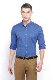 Shirts With Pants Van Heusen Sport Shirts Van Heusen Blue Shirt For Men At