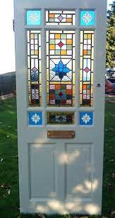 stained glass front door lead light