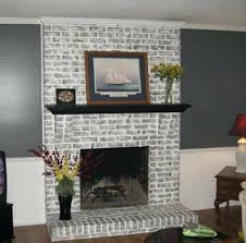 painted brick fireplace best fireplaces ideas on inside white images