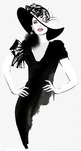 Hand Painted Fashion Woman Fashion Clipart Woman Clipart Hand