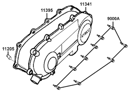 kymco scooter ks9e05lcc9000a left crankcase cover part 9000a kdt kymco super 9 e5 engine left crankcase cover parts diagram