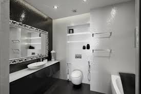 Nice Bathroom Decor Bathroom Modern Black And White Bathroom Decor With Nice Wall
