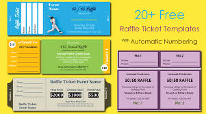 20 Free Raffle Ticket Templates With Automate Ticket Numbering