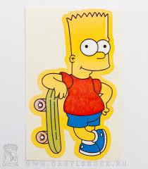 наклейка барт симпсон и скейт