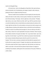 sample close reading essay irony king lear on oedipus the  lamb to the slaughter irony evaluation proposal sample wording for essay ideas 15089 irony essay essay