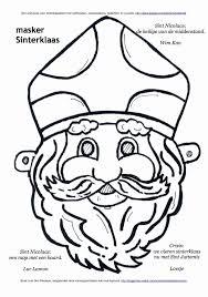 Kleurplaten Moeilijk Nieuw Masker Sinterklaas Kleurplaat