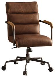 industrial office chair. Antonio Leather Executive Office Chair, Vintage Brown Industrial Chair Houzz