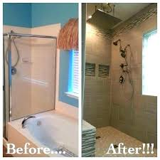 replace bathtub with shower cost to walk in for impressive 18