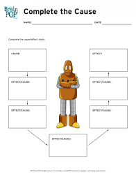 Casue And Effect Cause And Effect Chain Brainpop Educators