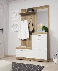 details about coat rack hook hanger storage shoe hallway bench cabinet with mirror furniture