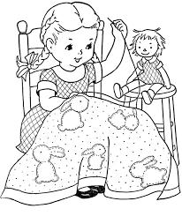 11111 Redwork Retro Kitsch Cute Childrens