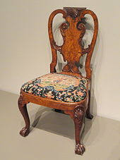 Walnut And Burr Walnut Veneer Side Chair Attributed To Giles Grendey  London C 1740 Art Institute Of Chicago Queen Anne Armchair Y90