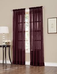 erica crush sheer voile curtain panel 51 inch by 63 inch burdy