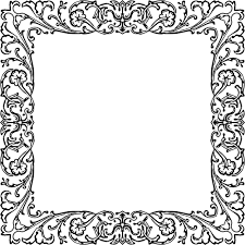 vintage black frame png. Vintage Black And White Frame Png