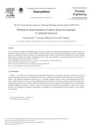 Factor Of Safety In Machine Design Pdf Method Of Determination Of Safety Factor On Example Of