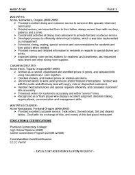 Waitress Objective For Resume Server Resume Objective Samples Waiter