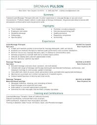 Massage Therapist Resume Examples Fascinating Massage Therapy Resume Samples Massage Therapy Resume Examples Best