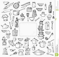 Small Picture 21 kitchen tools colourin hand drawn doodle cooking set kitchen