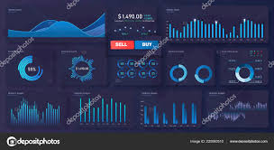 Modern Charts And Graphs Modern Modern Infographic Vector Template With Statistics