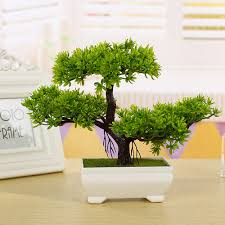 the office ornaments. 1-Pc-Artificial-Mini-Pine-Tree-Potted-Plant- The Office Ornaments