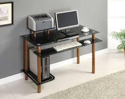 black glass computer desk modern shakesisshakes com decor ideas 971 768