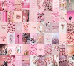 Aesthetic Pink Collage Wallpapers - Top ...