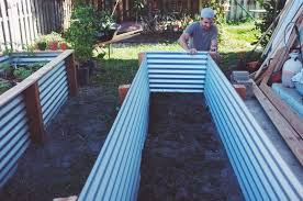 corrugated metal raised garden beds. Ohdeardrea Our Raised Beds Easy Metal Wood Garden Bed How To DIY Corrugated A