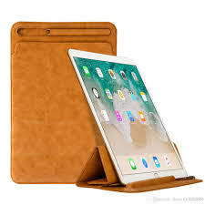 premium leather sleeve case for ipad pro 10 5 2017 pouch bag creative folding cover with pencil slot holder for ipad pro 9 7 new tablet 10 inch case 10 inch