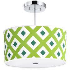 nursery ceiling lighting. Green Geometrics Light Fixture, 16-Inches, 3-Light Nursery Ceiling Lighting