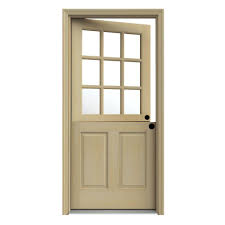 unfinished dutch left hand inswing 9 lite clear wood prehung front door w brickmould