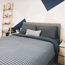 ... MUJI style Striped Bedding Set (SS, Q, ...